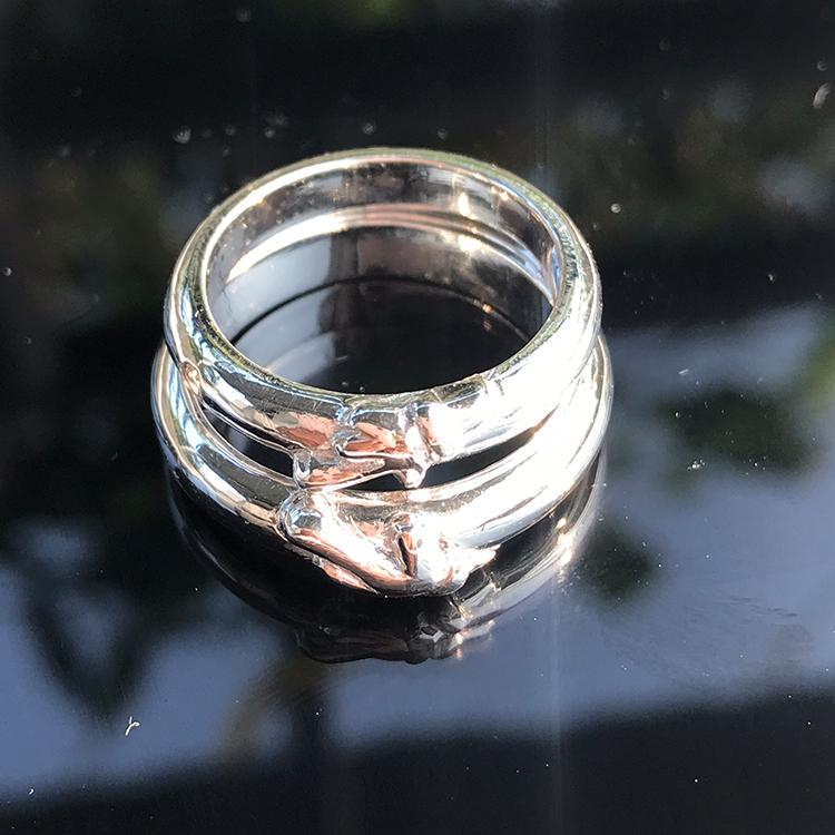 Nhẫn đôi bạc ND1009