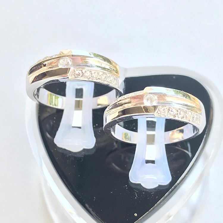 Nhẫn đôi bạc ND1013